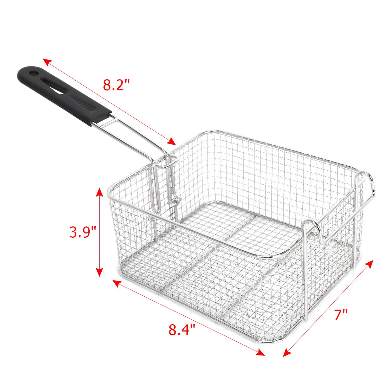 Stainless Steel Commercial Household Electric Deep Fryer Fried Chicken Pan 6L