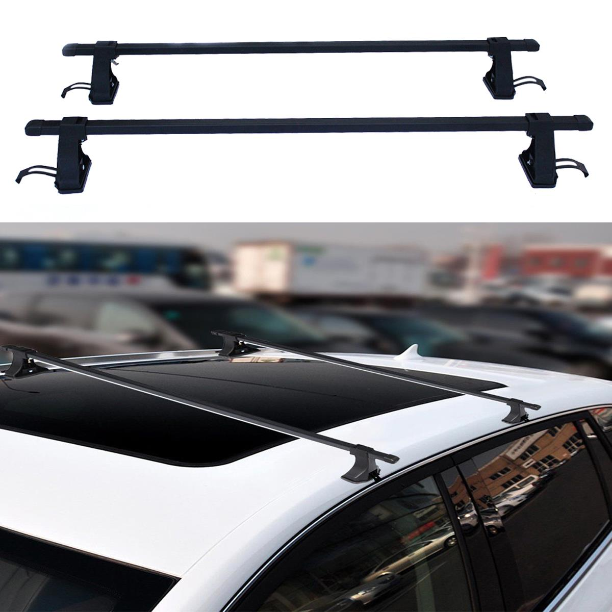 54 Universal Top Roof Rack Cross Bars Luggage For 4 Door Car Suv Truck Jeep Ebay