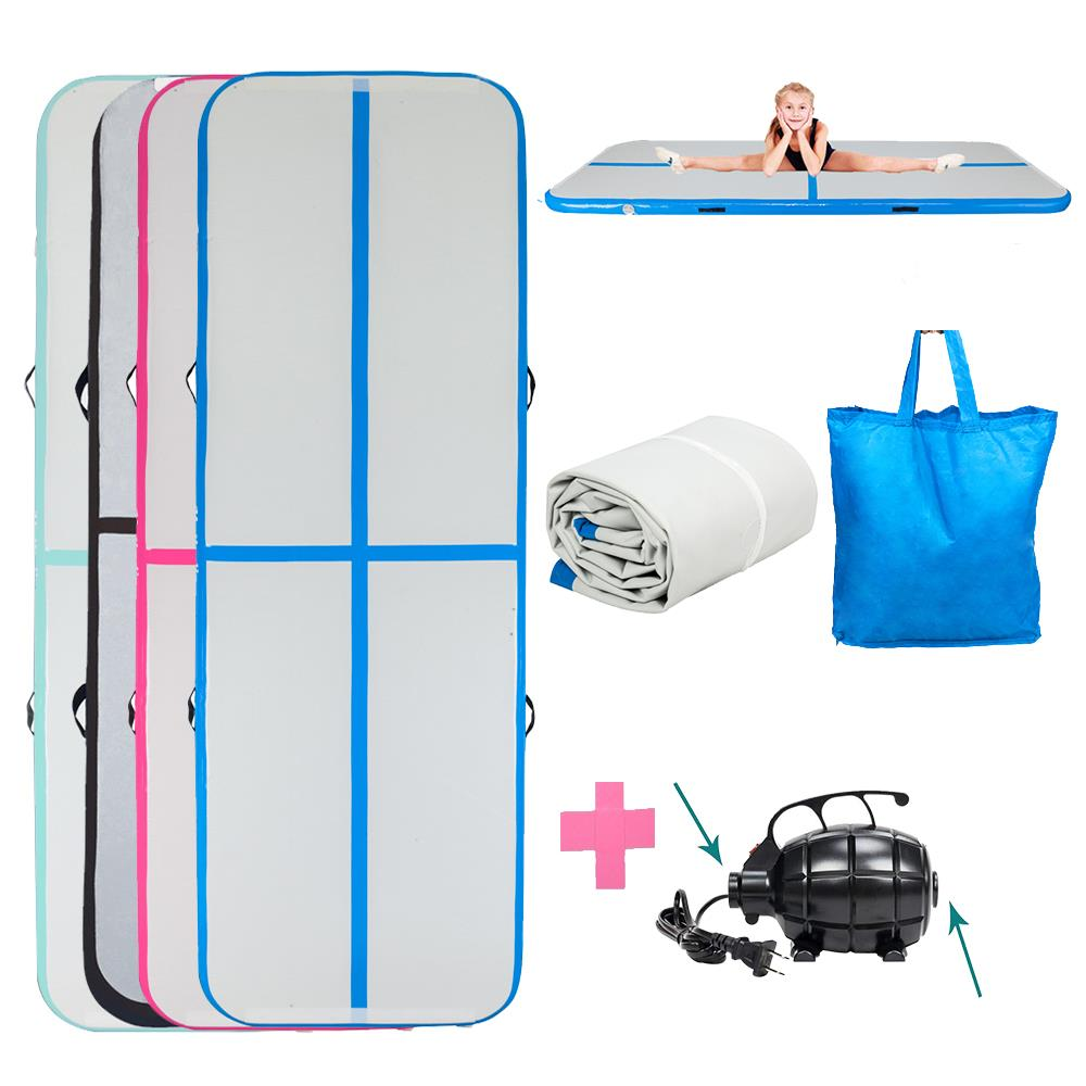 10Ft Air Track Floor Tumbling Inflatable Gym Mat Pad Yoga AirTrack Gymnastic